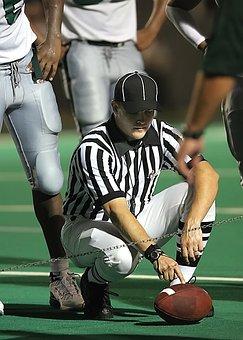 Football, American Football, Referee, Ref, Stripes