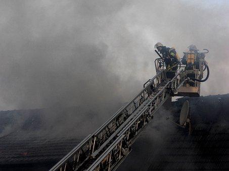 Fire, Smoke, Risk, Fog, Roof, Brand, Fire Fighting