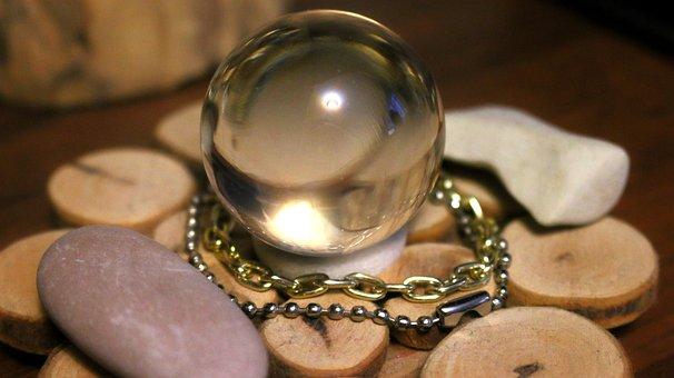 Glass Ball, Ball, Stones, Mystic, Magic, Divination