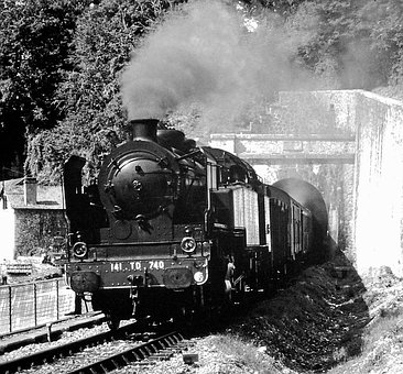Locomotive, Train, Railway, Steam Train, Track, Smoke