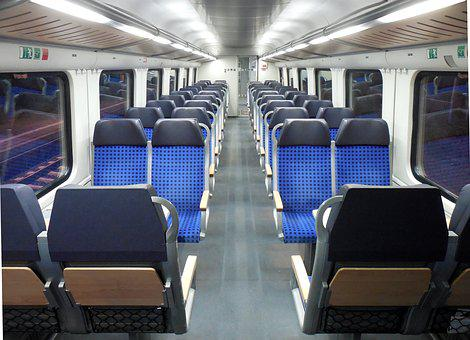 Train, Compartment, Empty, Lonely, Evening, Travel
