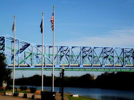 Bridge, River, Water, Transportation, Travel