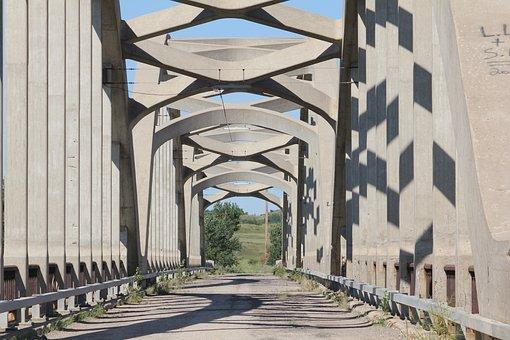 Abandoned, Bridge, Old, Concrete, Road