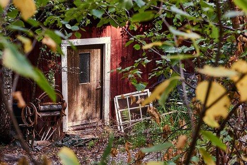 Door, Input, Wood, Old, House, Rusty, Access, Antique