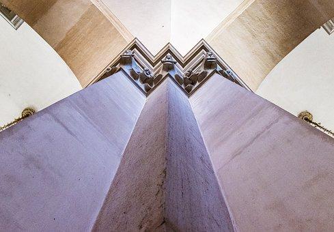 Venice, Church, Architecture, Column, Detail, Building
