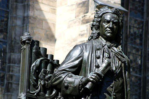 Bronze, Monument, Bach, Leipzig, Figure, Art, Sculpture