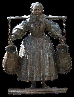Woman, Figure, Water Winner, Bambergka, Fountain