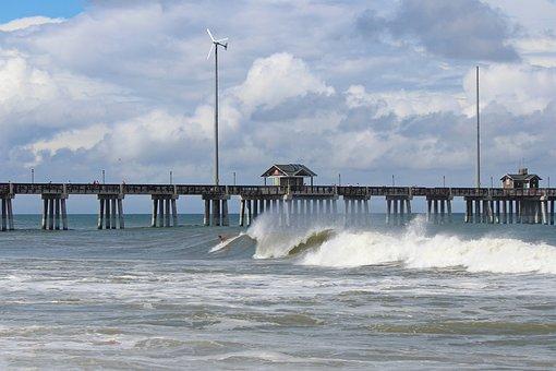Jennette's, Pier, Obx, Beach, Outer, Banks, Shore