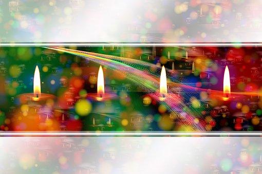 Candles, Advent, Christmas, Star, Christmas Card