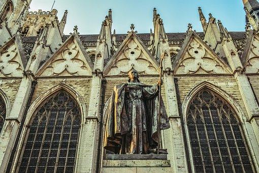 Church, Architecture, Gothic, Sculpture, Cardinal