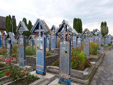 Sapanta, Cemetery, Serene, Cheerful, Grave, Tomb, Death