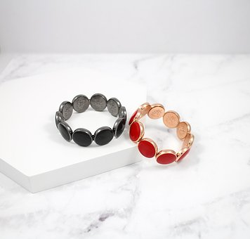 Circular, Hand Chain, Bracelet, Pop Wind, Black, Red