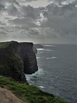 Ireland, Cliffs Of Moher Munster, Cliffs, Nature