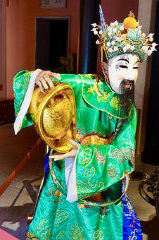 Costume, Chinese, Green, Traditional, Oriental, Dance