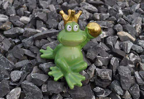 Frog, Frog Prince, Crown, Gold, Green, Frog Figure