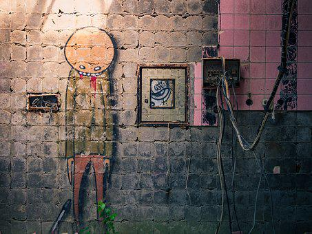 Building, Abandoned, Decay, Graffiti