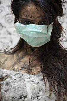 Psycho, Portrait, Woman, Make-up, Fiction, Mask, Doctor