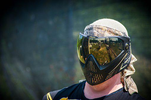 Mask, Paintball, Lens, Player, Paint, Extreme