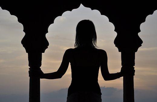 Girl, Backlight, India, Window, Portrait, Female
