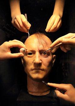 Face, Eye, Hand, Finger, Mask, Head, Wax, Model