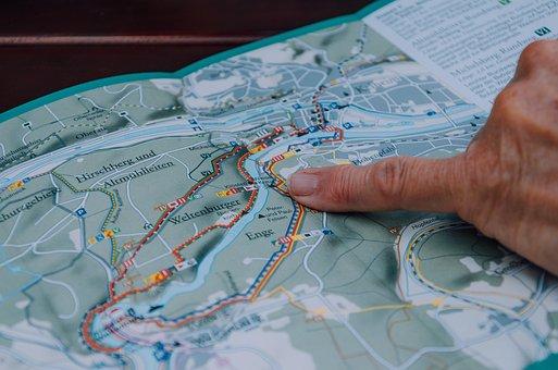 Map, Travel, Hiking, Wanderer, Trail, Orientation