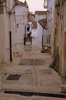 Alley, Descent, Houses, Walls, Historian