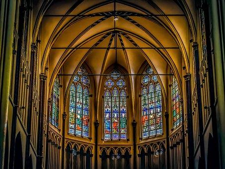 Church, Interior, Religion, Architecture, Christianity