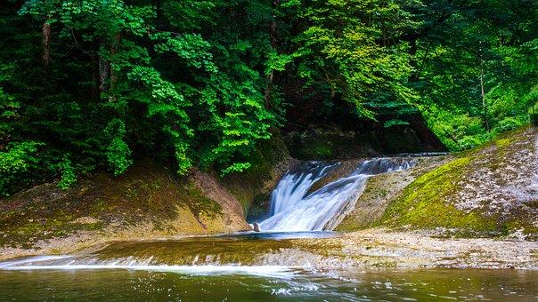 Eistobel, Isny, Allgäu, Waterfall, Forest
