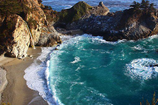 Big Sur, Coast, California, Ocean, Pacific, Landscape