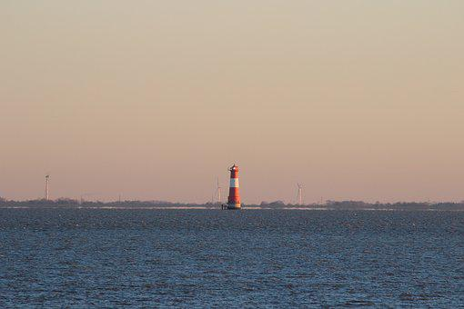 Dangast, Lighthouse, Coast, Nautical, Transport System