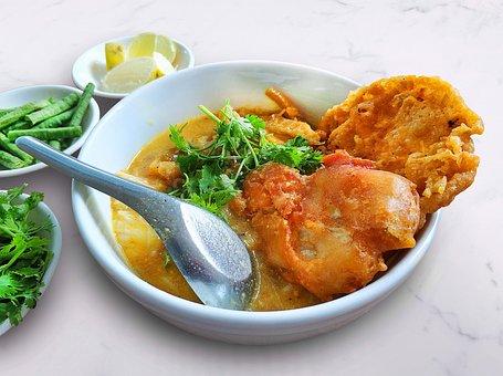 Mohinga, မုန့်ဟင်းခါး, Myanmar, Myanmar Food, Food
