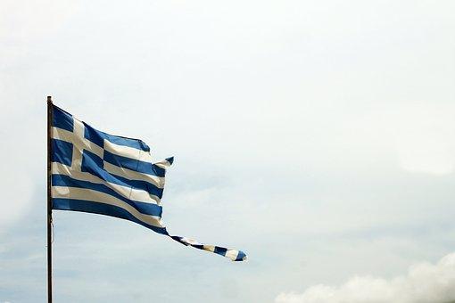 Greece, Flag, Injured, Injury, Country, National, Blue