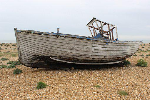 Old Boat, Dungeness, Abandoned