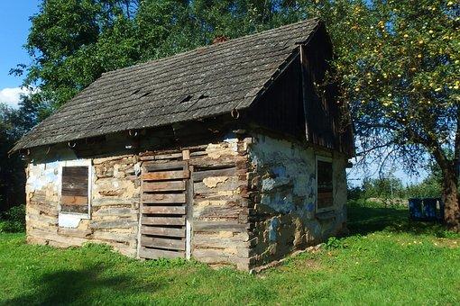 House, Abandoned, Cottage, Crash, Old, Tree