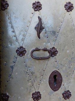 Door, Damask, Crafts, Passepartout, Forging, Iron