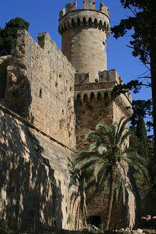Greece, Rhodes, Fortification, City Wall, Building