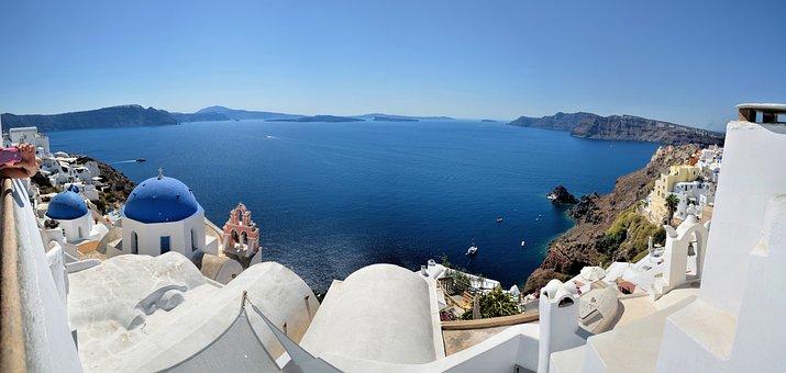 Santorini, Greece, Middle-earth, Sea, Island, Travel