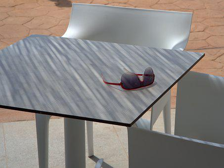 Sunglasses, Table, Shadow, Vacations, Sit, Relax