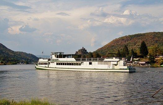 Pleasure, Ship, Steamer, Elbe, Castle, Střekov