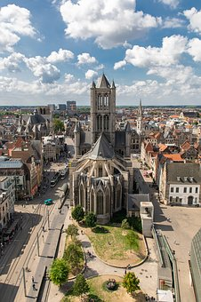 Saint-nicolas Church, Ghent, Belgium, Skyline, Tower