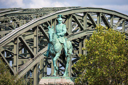 Statue, Equestrian Statue, Bridge, Railway Bridge