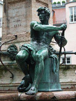 Statue, Sculpture, Art, Metal, Patina, Historically