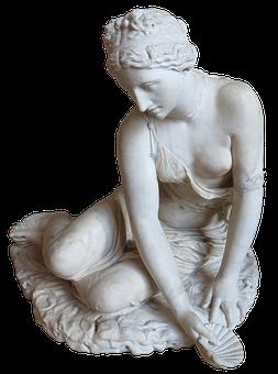 Statue, Nymph, Woman, Water, Venus, Shell, Female