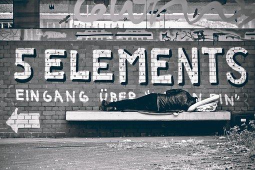 Street Photography, Homeless Man, Street, Streetscape