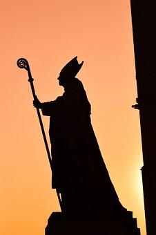 Sculpture, Sunset, Cardinal, Statue, Figure, Silhouette