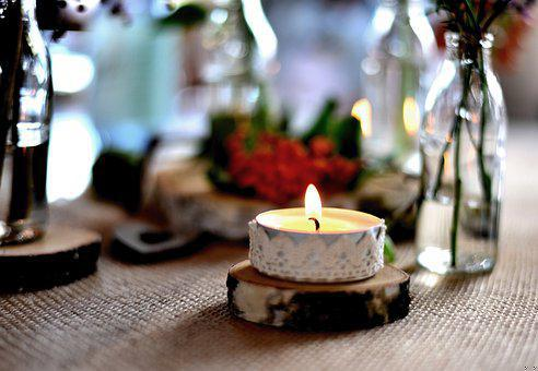 Autumn Decoration, Autumn, Table Decoration, Tealight