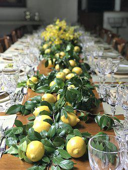 Lunch, Lemon, Tableset, Table, Party, Decoration