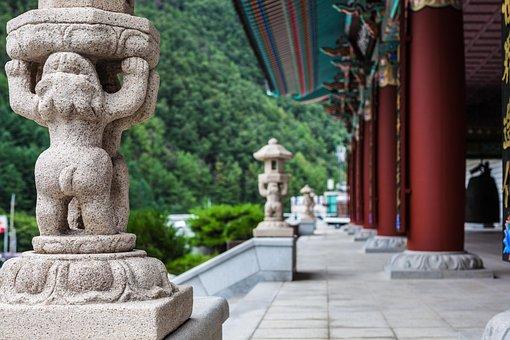 Sculpture, Temple, Section, Statue