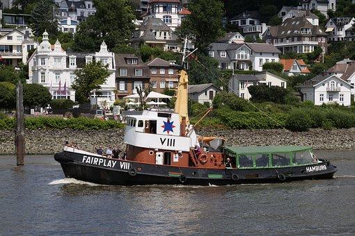 Shipping, Ship, Maritime, Tug, Towage, Screw Tug, Old