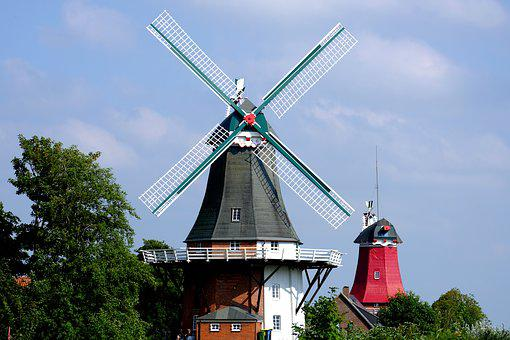 Mill, Northern Germany, Windmill, Wing, East Frisia